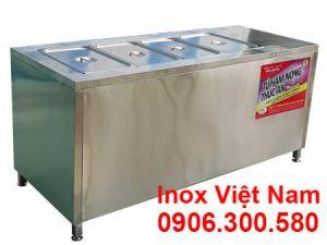 Giá tủ hâm nóng thức ăn 4 khay lớn TH-23