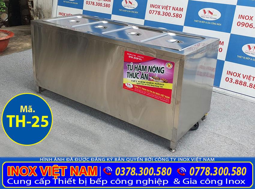 Tủ giữ nóng thức ăn 4 khay TH-25
