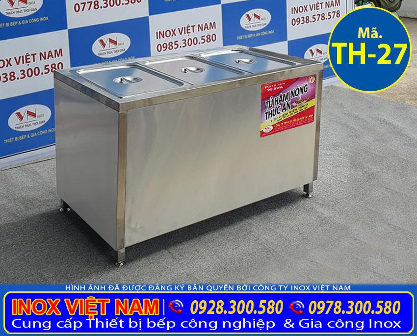 Tủ hâm nóng thức ăn của Inox Việt Nam được sản xuất bằng inox chất lượng cao.