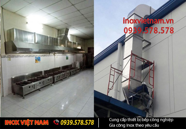 Đầu chụp, hút khói từ căn bếp vào hệ thống ống dẫn khói.