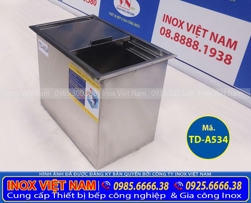 Báo Giá thùng đá inox âm quầy bar TD-A534