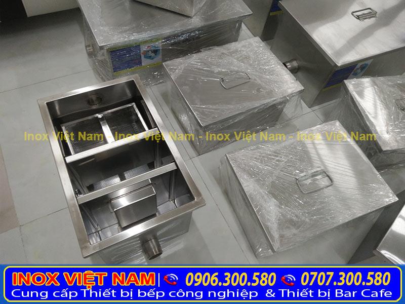 bể tách dầu mỡ 3 ngăn, Các ngăn tháo ráp dễ dàng vệ sinh