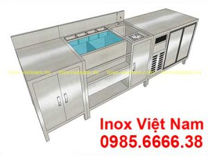 quầy bar cafe inox