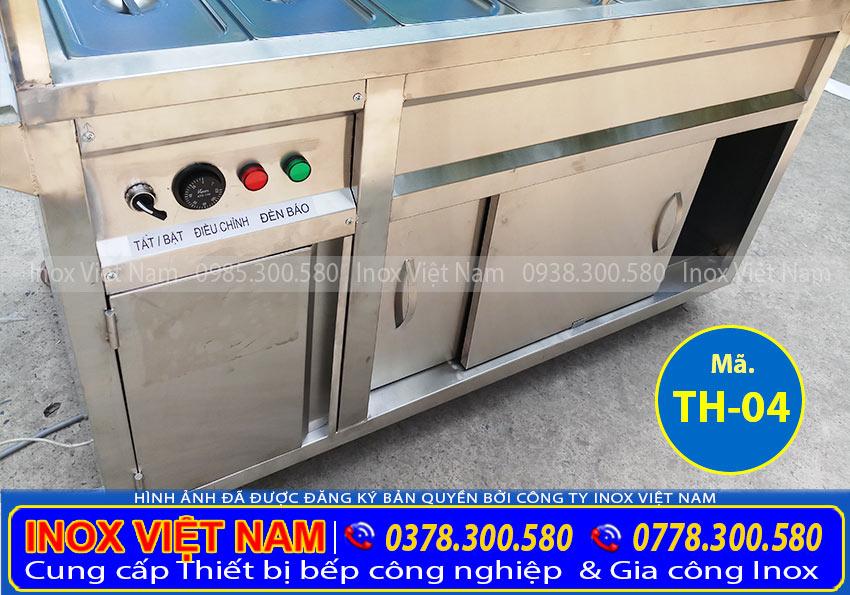 Thân tủ hâm nóng thức ăn 14 khay inox 304 TH-04