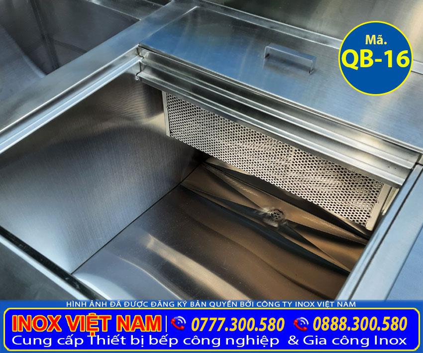 Thùng chứa đá âm quầy bar inox QB-16