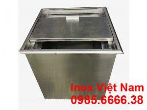 thùng đá inox âm bàn