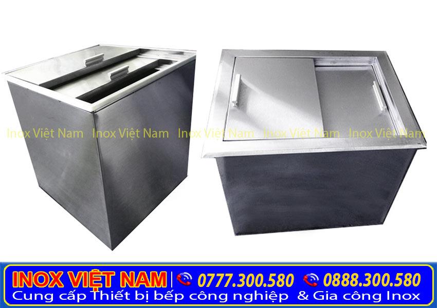 thùng đá inox âm bàn | thùng đá inox âm quầy bar pha chế