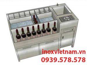 thùng đá inox quầy bar âm bàn