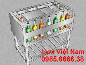 thùng chứa đá inox quầy bar