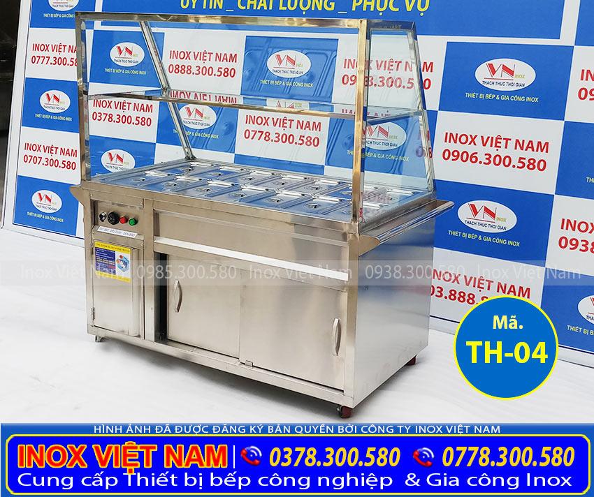 Tủ giữ nóng thức ăn 14 khay inox 304 TH-04