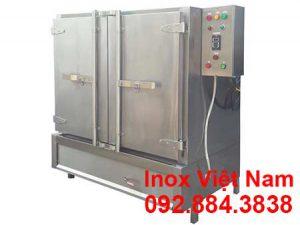 Tủ nấu cơm công nghiệp bằng điện và gas 100 kg