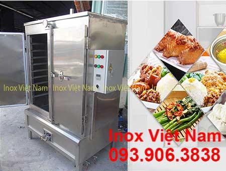 Tủ nấu cơm công nghiệp bằng điện và gas 120 kg