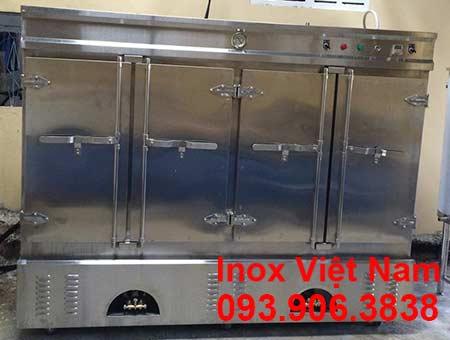 Tủ nấu cơm công nghiệp bằng điện và gas