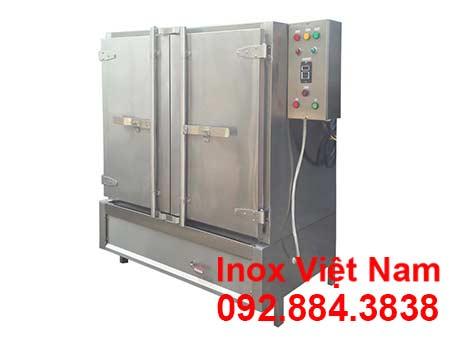 Tủ nấu cơm công nghiệp bằng điện và gas 80 kg