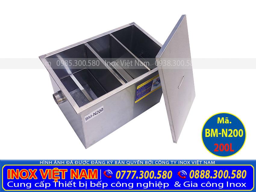 bể mỡ công nghiệp 200L BM-N200