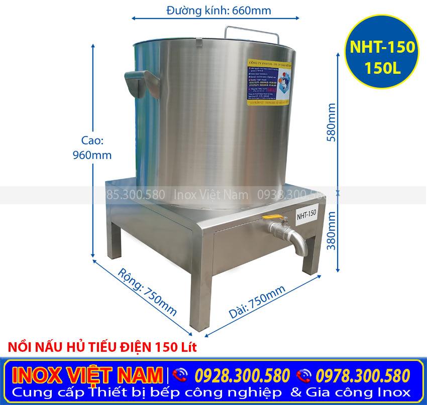 Giá nồi nấu hủ tiếu bằng điện 150L