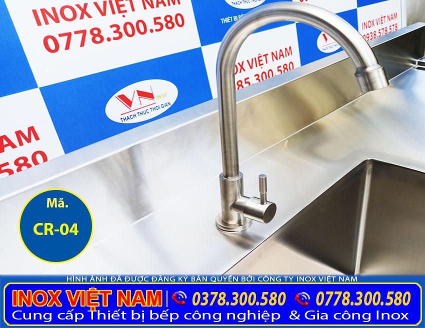 Vòi nước chậu rửa inox công nghiệp