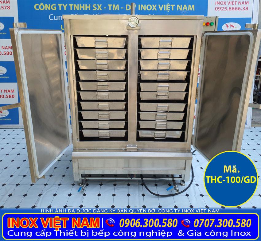 báo giá tủ nấu cơm công nghiệp 100kg điện và gas