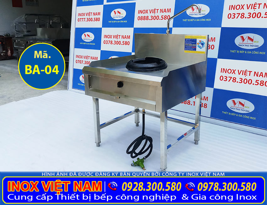 Thiết bị bếp công nghiệp: Bếp á 1 họng đốt, bếp công nghiệp 1 họng đốt tại IVN.