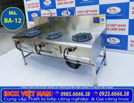 IVN sản xuất Bếp kiềng tô 3 họng không kệ song, bếp công nghiệp inox theo yêu cầu. Liên hệ Inox Việt Nam ngay.