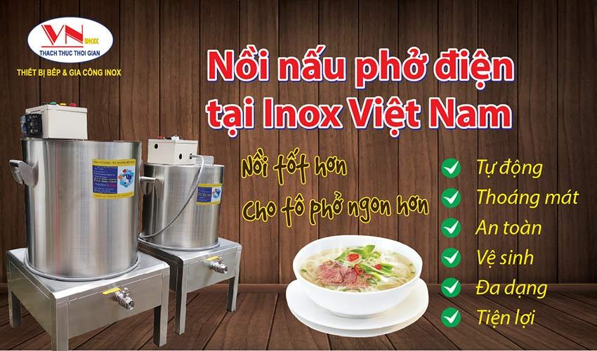 Bộ nồi nấu phở bằng điện chất lượng cao tại Inox Việt Nam