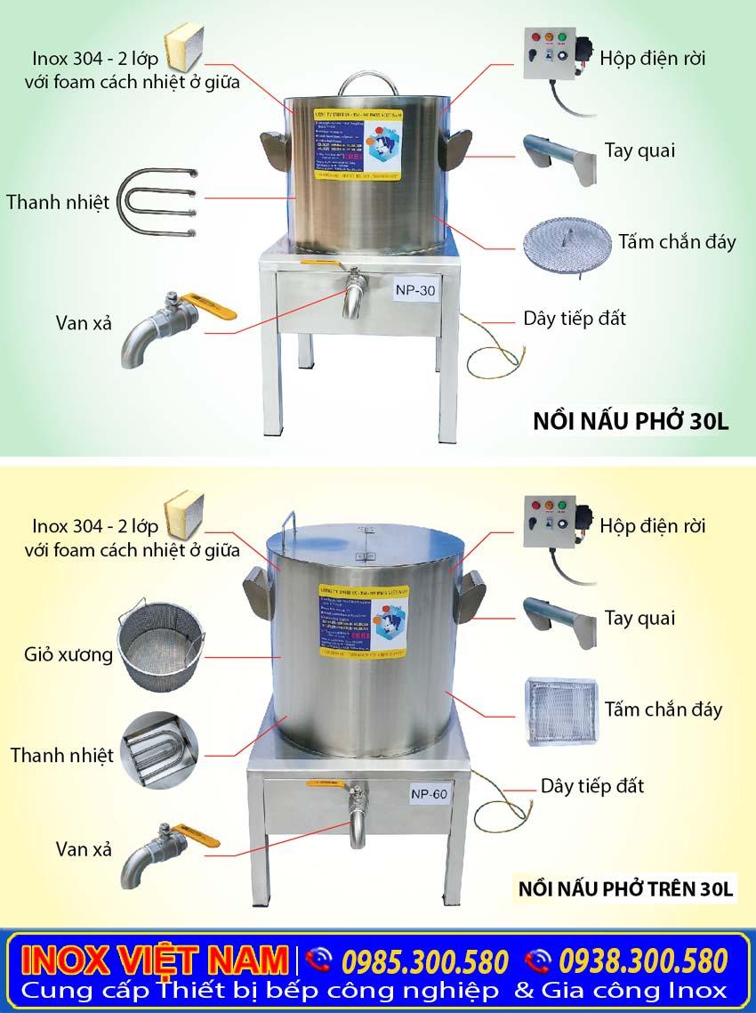 Cấu tạo Nồi nấu phở bằng điện tại Inox Việt Nam