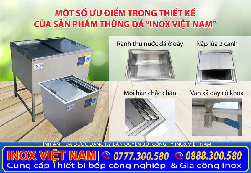 Cấu tạo của thùng đá inox Inox Việt Nam