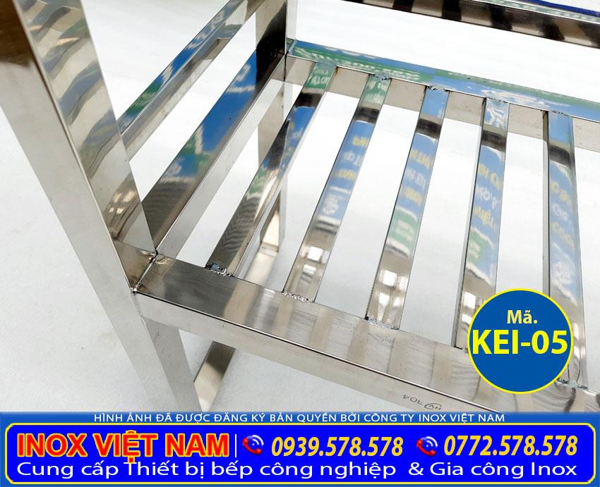 Chân kệ bếp inox 2 tầng trên bàn KEI-05