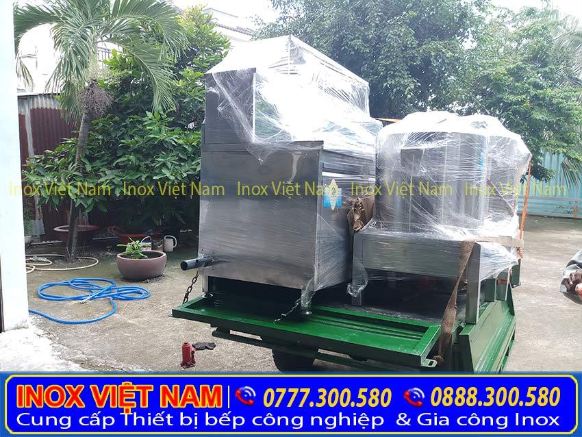 Hình ảnh giao hàng thật tế Nồi phở điện tại Inox Việt Nam |. Giá nồi nấu nước lèo bằng điện | Nồi bán hủ tiếu gõ |