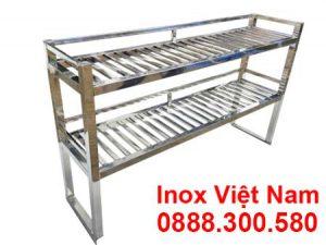 kệ inox 2 tầng trên bàn KEI-04