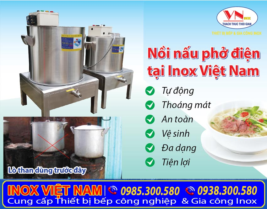 Nồi nấu phở bằng điện tại Inox Việt Nam
