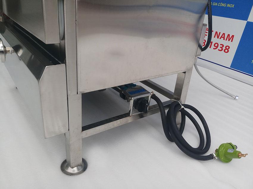 Phần gas của tủ nấu cơm công nghiệp 50kg