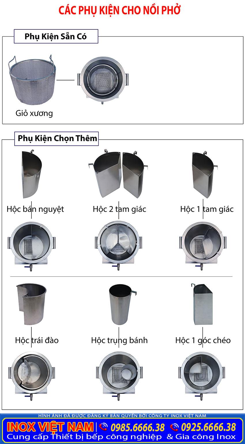 Phụ kiện cho nồi nấu phở bằng điện 60L