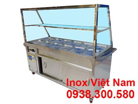 Tủ hâm nóng thức ăn 12 khay có mái kính TH-03