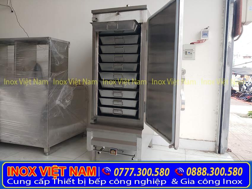 tủ hấp cơm bằng điện, tủ cơm công nghiệp