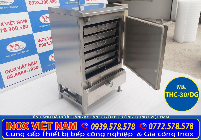 tủ hấp cơm 30kg bằng điện và gas