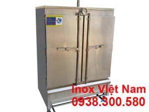 tủ hấp cơm công nghiệp 100kg bằng gas
