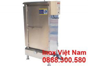 Tủ hấp cơm công nghiệp 50kg bằng điện và gas