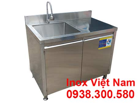 Tủ inox có bồn rửa - Tủ bồn rửa chén inox 304
