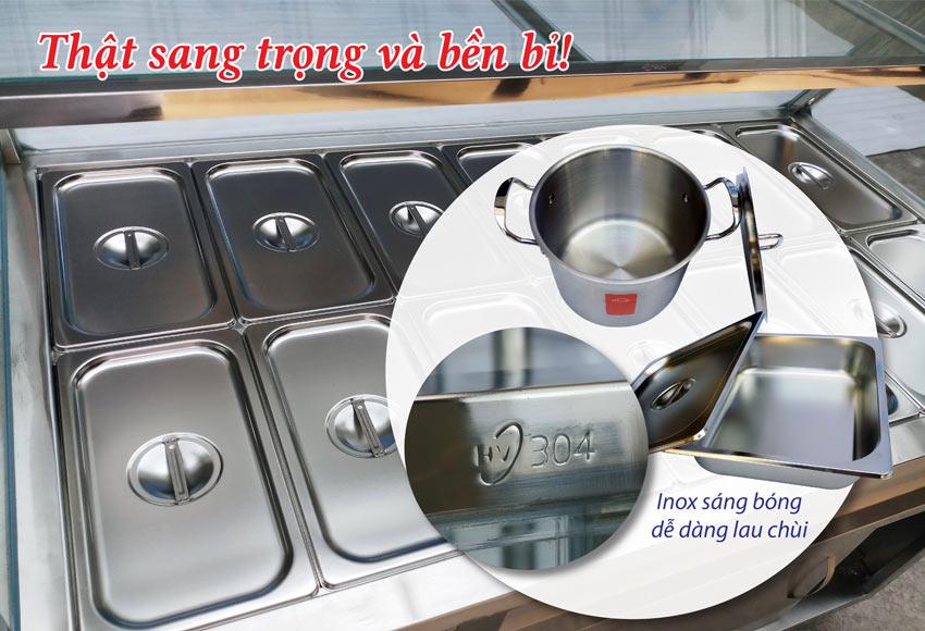 Cấu tạo của tủ giữ nóng thức ăn Inox Việt Nam