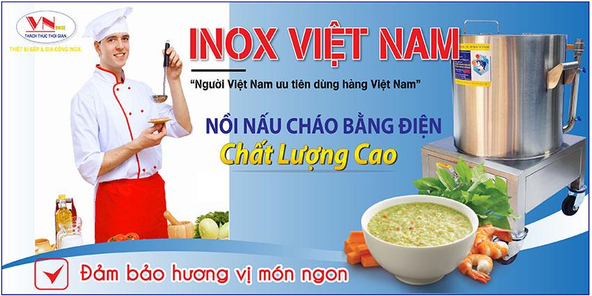 Nồi nấu cháo bằng điện chất lượng cao tại Inox Việt Nam