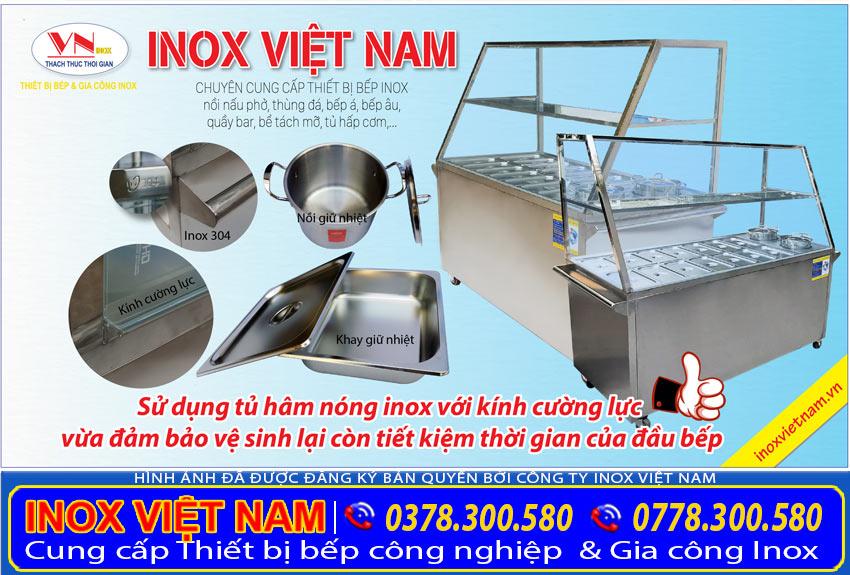 Thiết kế của quầy hâm nóng thức ăn - Quầy bán cơm hâm nóng