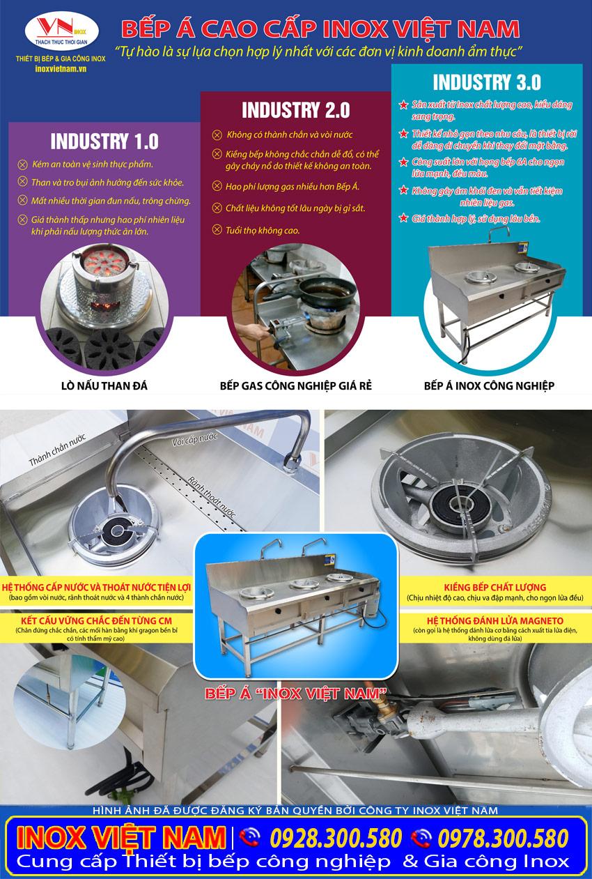Thiết bị bếp á công nghiệp chất lượng cao tại Inox Việt Nam