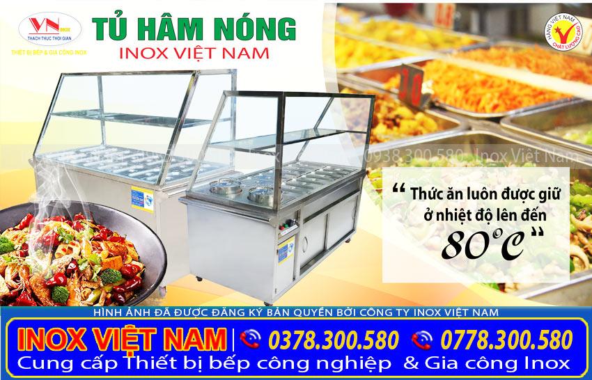 Tủ hâm nóng, tủ giữ nóng thức ăn Inox Việt Nam