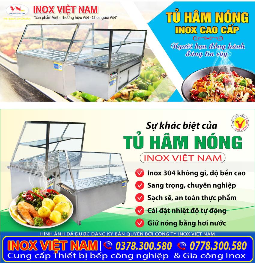 Tủ hâm nóng thức ăn Inox Việt Nam