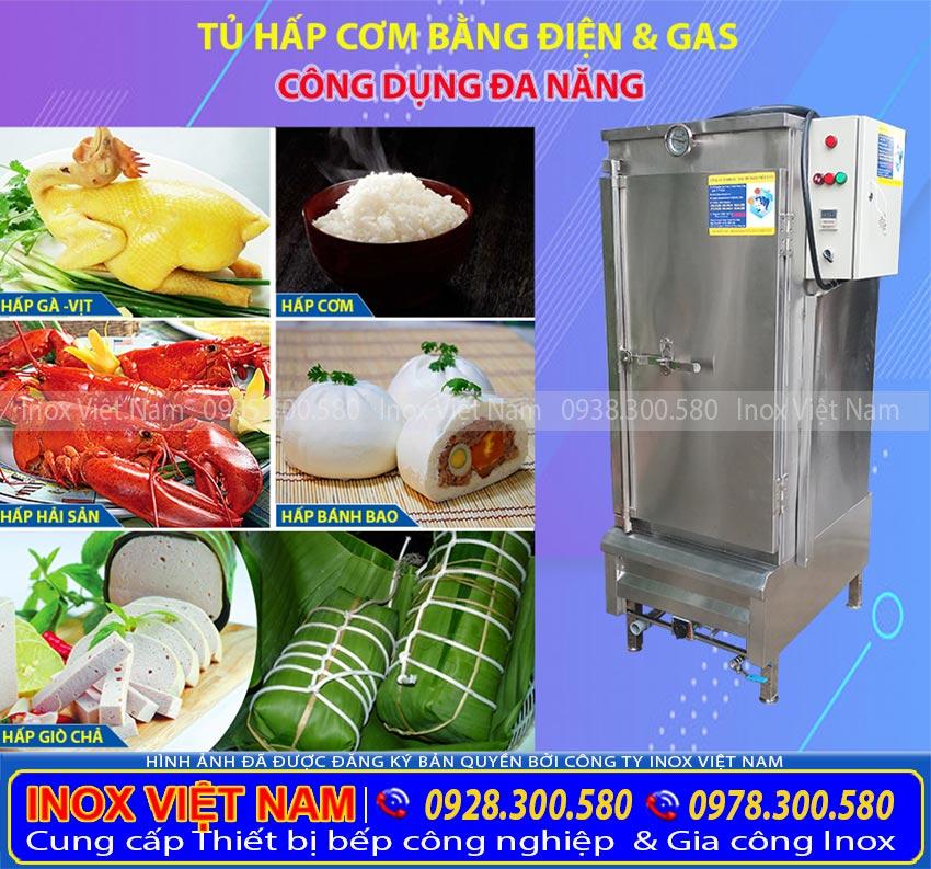 Tủ nấu cơm bằng điện và gas