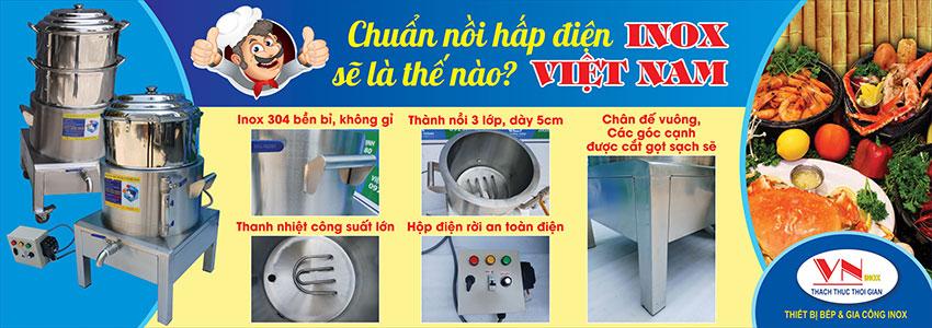 Nồi hấp điện công nghiệp Inox Việt Nam