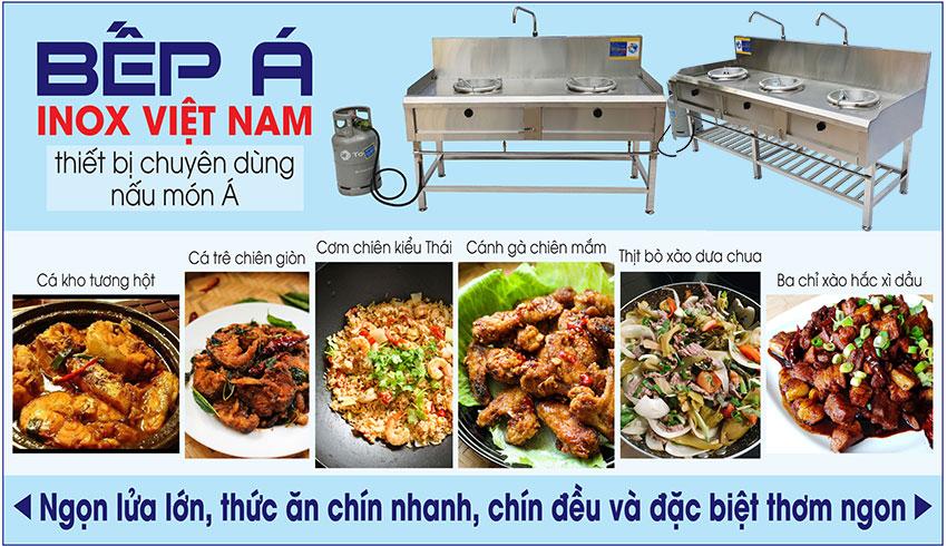 Thiết bị bếp công nghiệp Inox Việt Nam