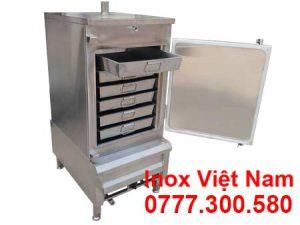 tủ hấp bánh bao công nghiệp 6 khay bằng điện và gas