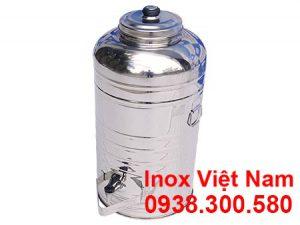 Bình đựng nước đá inox có vòi gạt nước 30L